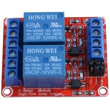DC 12V 2-Channel Relay Module with Optocoupler H/L Level Triger for Arduino S3V6