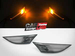 (2) Smoke Bumper Side Marker Light For 13-16 Porsche 981 Cayman Boxster 991 911