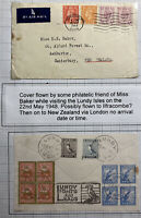 1948 Lundy Channel Island England Airmail Cover To Ashburton New Zealand