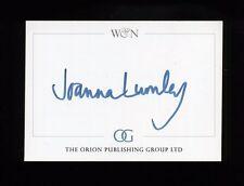 Joanna Lumley - original SIGNED Bookplate