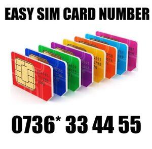 GOLD EASY VIP MEMORABLE MOBILE PHONE NUMBER DIAMOND PLATINUM SIMCARD 33 44 55