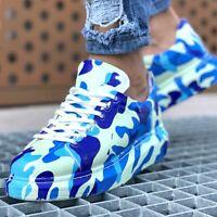 Chekich CH255 Blue Camo Sneakers  | Graffiti Schuhe | Turnschuhe | Mehrfarbig