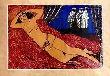 Salvatore Fiume,Odalisca,serigrafia,50x70 cm, autentica