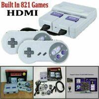 HDMI-compatible 8Bit Retro Game Console Built-in 821 Games w/ Controller Family