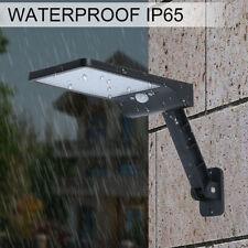 Solar 48 LED Luz de Pared de calle sensor de movimiento PIR Lámpara al Aire Libre Jardín Regulable Reino Unido