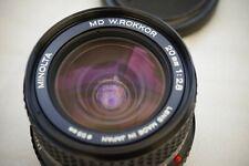 20mm f2.8 Minolta MD Rokkor + Minolta UV - MINT minus condition