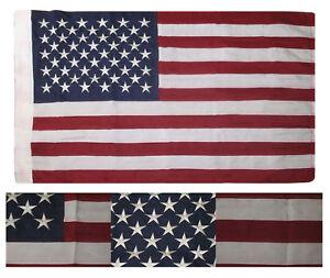 2.5 x 4 Embroidered Sewn USA American 50 Star Sythetic Cotton Nylon Flag Sleeve