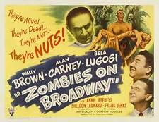 ZOMBIES ON BROADWAY Movie POSTER 22x28 B Wally Brown Alan Carney Bela Lugosi