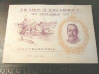 1935 THE REIGN OF KING GEORGE V royalty set 50 cards - album Tobacco Cigarette
