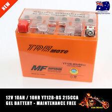 Motorcycle Battery GEL YT12B-4 YT12B-BS 12V 10Ah replace Yussa SSB Motobatt