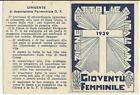 80241 TESSERA AZIONE CATTOLICA ITALIANA 1939 GIOVENTU' FEMMINILE