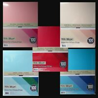 """RECOLLECTIONS CARDSTOCK Paper 8 1/2"""" x 11"""" 100 Sheets 110 lb HEAVYWEIGHT U PICK"""