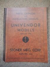 1948 Stoner Candy Machine Parts & Instruction Manual
