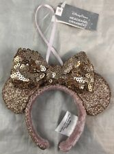 Disney Parks Briar Rose Gold Minnie Mouse Ears Headband Xmas Ornament Holiday