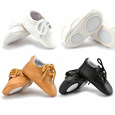 0-18M Unisex Baby Leather Soft Sole Shoes Infant Boy Girl Toddler Crib Moccasin
