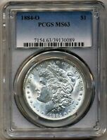 1884-O Morgan PCGS MS-63 Nice Bright White Silver Dollar Coin New Orleans Mint