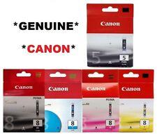 5x Canon Genuine/Original Ink Cartridges PGI-5BK CLI-8BK,8C,8M,8Y 5-BK,8,C,M,Y