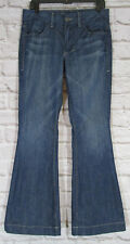 William Rast Womens Jeans Esmeralda Vintage Fit Flare Distressed 30 x 32   #2024