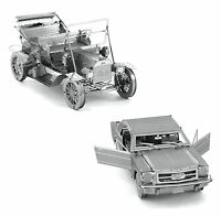 Set of 2 Fascinations Metal Earth Model Kits 1965 Ford Mustang 1908 Ford Model T