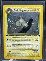Pokemon Card 1st Edition Team Rocket Holo Rare 11/82 Dark Magneton-LP