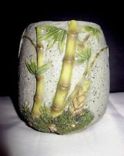 "Plastic of Paris PANDA GARDEN Oriental BAMBOO Vase 3.7/8"" High"