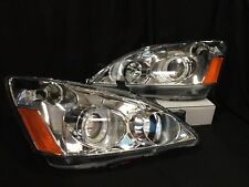 For 03-07 Honda Accord LED Halo Projector Headlights 03-07 Left+Right