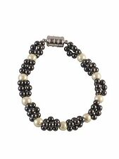 Zen Canyon Magnet Health Therapy Magnetic Hematite Simulated Pearl Bracelet