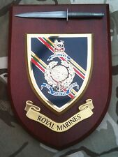 Royal Marines with Pewter Model Military Wall Plaque