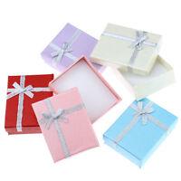 10stk Mix Schmuck-Schachtel Geschenk-Verpackung Etui mit Schleife 9cm x7cm KUS