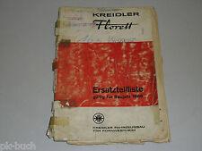 Ersatzteilliste Teileliste Kreidler Florett, Stand 04/1966