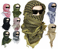100% Cotton Shemagh Head Scarf - Military Wrap Desert Keffiyeh Arab Army New