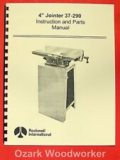 Rockwell 4 Jointer 37 290 Operating Amp Parts Manual 0606