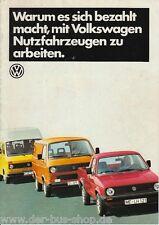 VW Bus T3 - Prospekt - Nutzfahrzeuge - August 1985