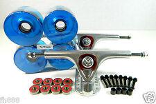 Paris 180mm Longboard Trucks + Pro 70mm Clear Wheels + ABEC 7 Bearings Combo Set