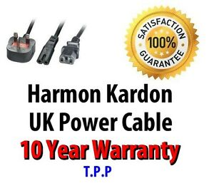 UK Mains Power Lead Cable Cord For Harman Kardon Audio Visual Products