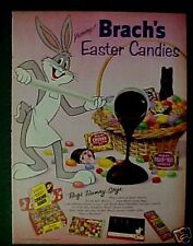 1958 Warner Bros Cartoon Easter Candy BRACH'S (BUGS BUNNY) Vintage Trade Art Ad