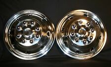 Ford E350 E450 Front Wheel simulators bolt on stainless steel new 8 lug 8 hole