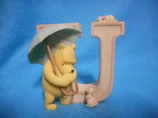Disney Classic Winnie the Pooh Figurine Letter Initial U