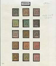 In Indocina Cantone 1901 sg.1-16 (meno SG.7) montati MINT