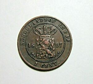 NETHERLANDS EAST INDIES. 1 CENT, 1897.
