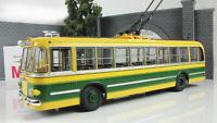 Scale model 1:43 trolleybus TBU-1 yellow/green 1955
