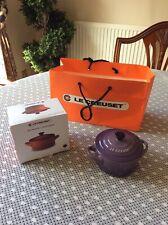 LE CREUSET Stoneware Petite Round Casserole Dish/lid -250ml - Ultra Violet - NEW