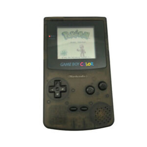 Clear Black Refurbished Nintendo Game Boy Color GBC Game Console + Game Card