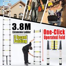 3.8M Single Telescopic Ladder Extendable Folding Steps Ladder Long Loft Ladders
