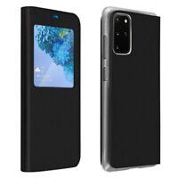 Smart view window flip case for Samsung Galaxy S20 Plus, slim cover - Black