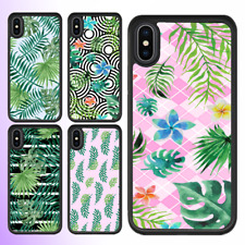 iPhone X 8 8 Plus 7 6 6s SE 5c Case Tropical Leaves III Bumper Cover For Apple