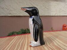 Karlsruher Majolika Keramik Pinguin Craquele um 1950 Walter Bosse Design Entwurf