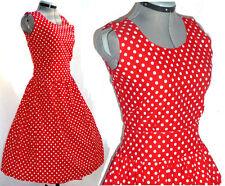 Vintage 50's style red polka dot boho retro pin up dress 2XL 2X