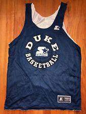 698354a53025 DUKE BLUE DEVILS Vtg 90s Starter Basketball REVERSIBLE PRACTICE Jersey 46  M Lrg