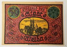 1921 Germany / Notgelds 50 Pfennig Stadt Weida Emergency Issue Bank Note HG50Pf1